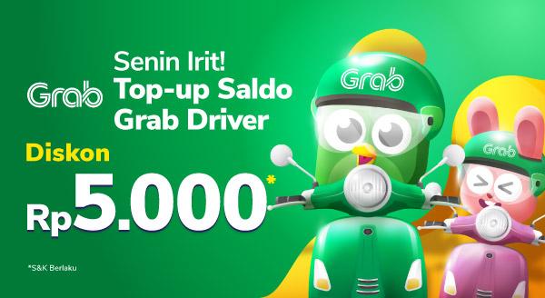 Narik Jadi Hemat, Top Up Voucher Grab Driver!