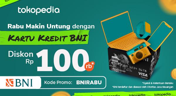 Setiap Belanja di Tokopedia dengan Kartu Kredit BNI, Diskon 100ribu!