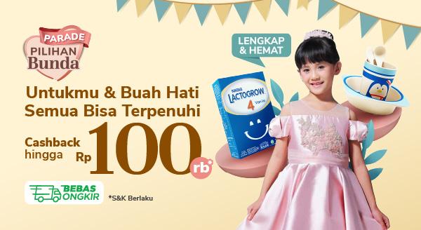 Promo Andalan Penuhi Semua Kebutuhan Anak Cashback hingga Rp100.000