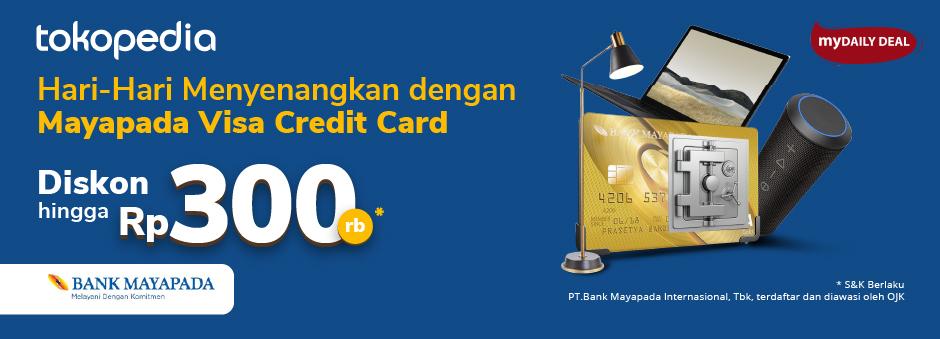 Yuk, Pakai Belanja Setiap Hari Kartu Kredit Mayapada-mu di Tokopedia dan Dapatkan Diskon Hingga Rp 300ribu!