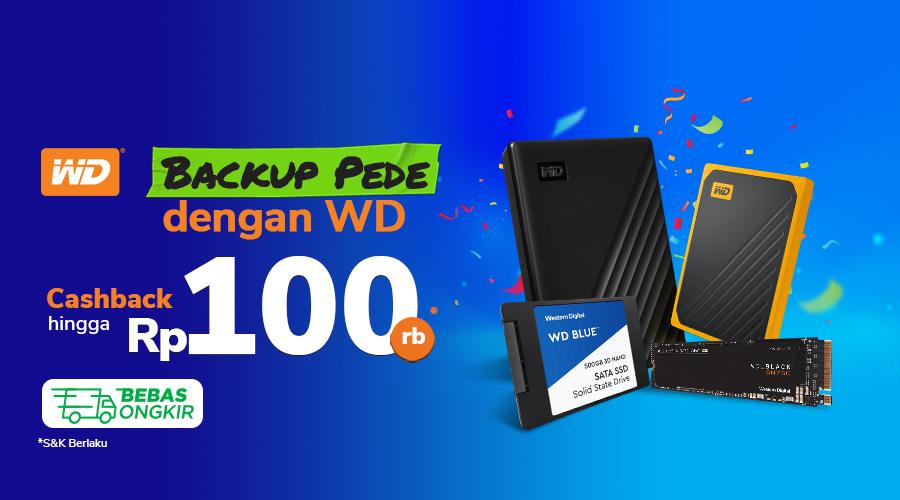 Promo WD Festival Cashback Hingga 100rb di Tokopedia