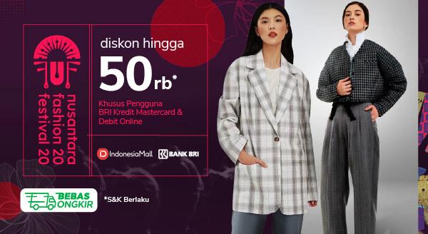 Beli Produk Indonesia Mall, Dapatkan Diskon hingga Rp50 Ribu Khusus Debit Online & Kredit Mastercard BRI!