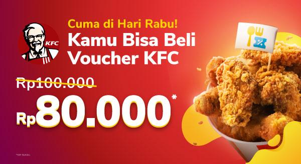 Sebelum makan KFC, beli Voucher dulu🍗