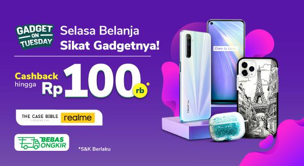 Promo Gadget on Tuesday – Cashback hingga Rp100.000