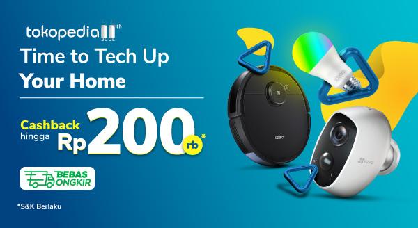 Promo Elektronik Rumah Cerdas Cashback Hingga 200rb di Tokopedia