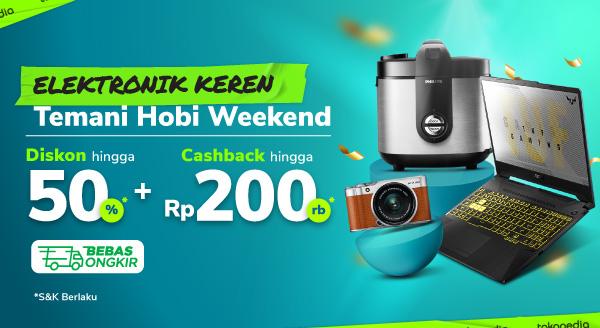 Promo Elektronik Keren untuk Hobimu Cashback hingga Rp200.000