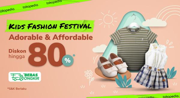 Kids Fashion Festival Cashback hingga Rp100.000