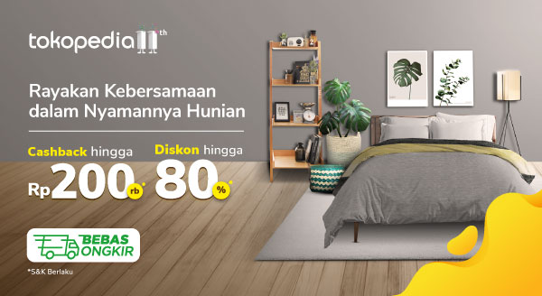 Percantik Rumahmu di Bulan Agustus dengan Diskon s.d 80%
