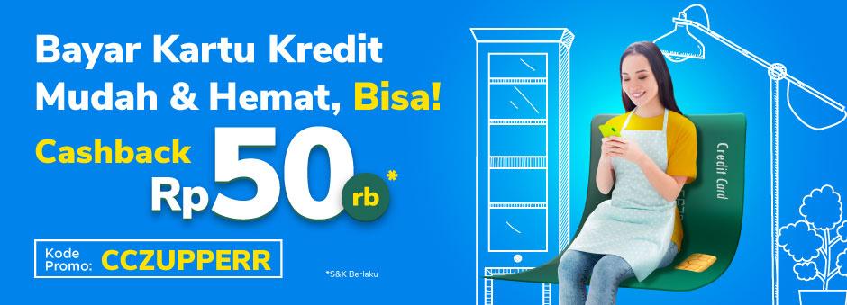 Cashback Rp50 000 Pembayaran Tagihan Kartu Kredit Via Tokopedia Pinterpoin