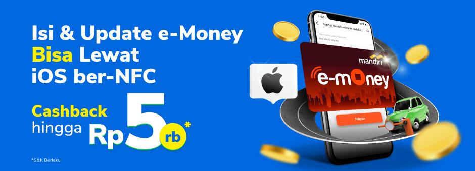 Promo top-up E-Money khusus iOS!