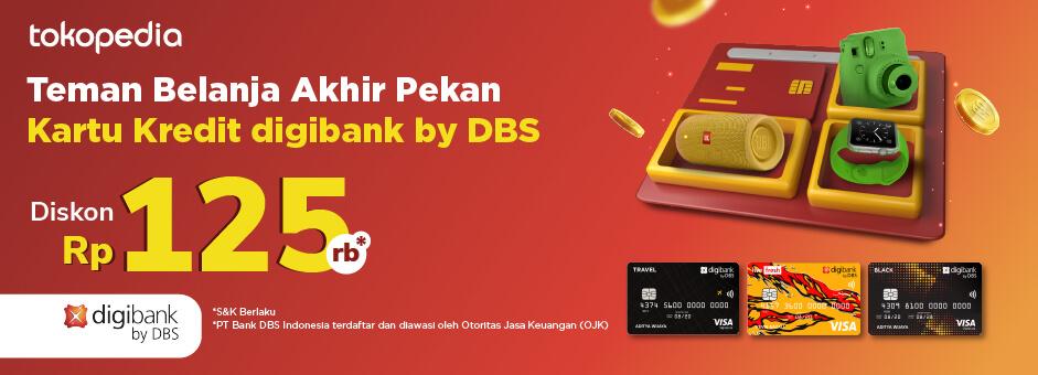 Promo Kartu Kredit digibank by DBS di Akhir Pekan Tokopedia Diskon Rp 125.000!