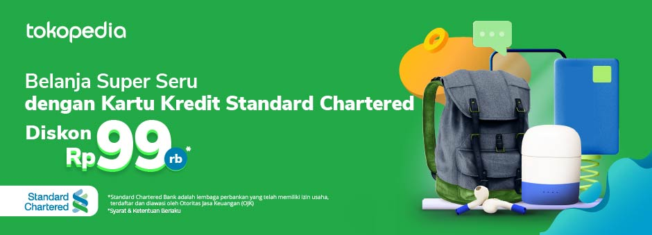 Promo Kartu Kredit Standard Chartered: Belanja Semua Kebutuhanmu di Tokopedia dan Dapatkan Diskon Rp 99.000!