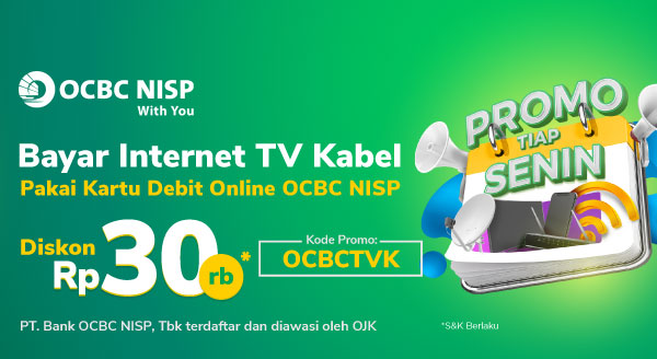 Senin, waktunya bayar Internet & TV Kabel!