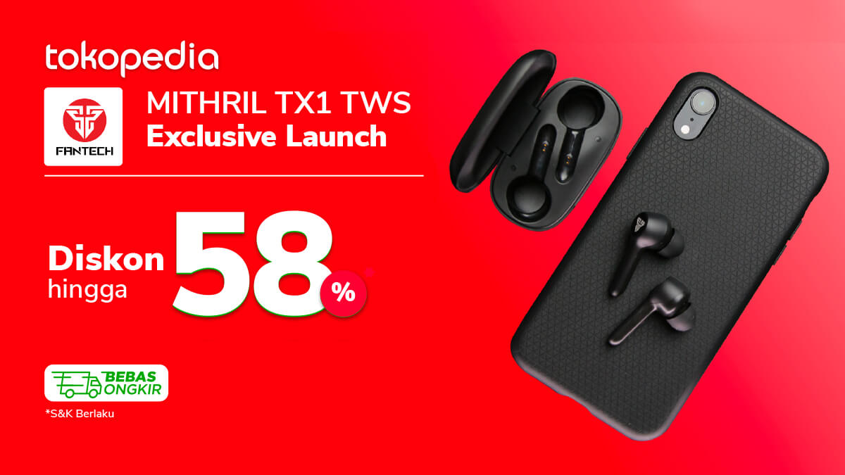Hanya 3 Hari! Wireless Earphone Asli Fantech Diskon s.d 58% di Sini