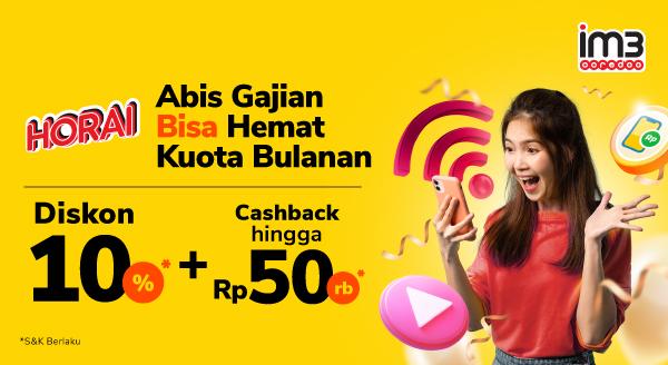 Diskon hingga 10% untuk Paket Data Indosat, Browsing Lebih Hemat!
