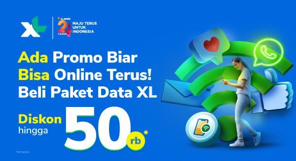 Promo Paket Data XL, Diskon hingga 15%