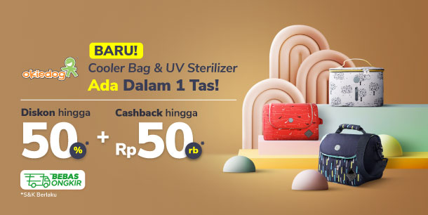 Baru! Cooler Bag & UV Sterilizer Ada dalam 1 Tas! Diskon hingga 50% + Cashback hingga Rp50.000*