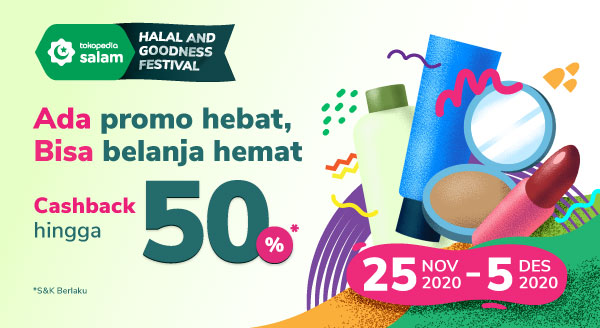 Promo Cashback 50% di Halal And Goodness Festival!