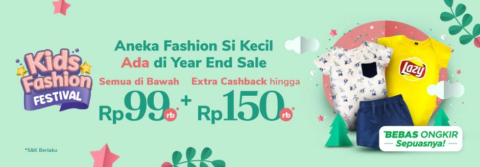 Aneka Fashion Si Kecil Ada di Year End Sale Semua di Bawah Rp99rb + Extra Cashback hingga Rp150rb
