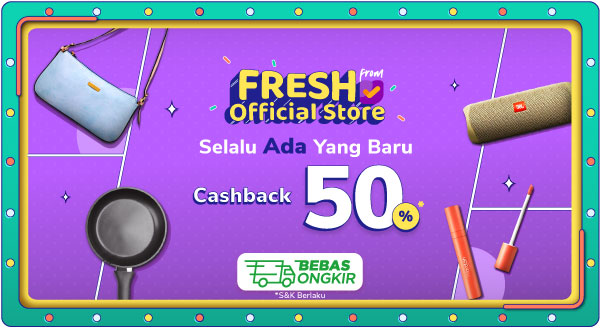 Promo Cashback Fresh From Official Store Tokopedia