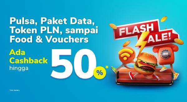 Flash Sale Pulsa s.d Token Listrik⚡
