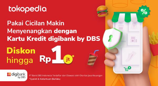 Belanja Banyak Keperluan Diskon hingga Rp 1juta dengan Kartu Kredit digibank by DBS!