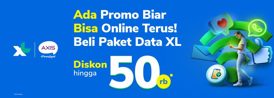 Promo Paket Data XL, Diskon hingga 50rb