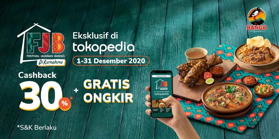 Festival Jajanan Bango Hadir di Rumahmu, Bisa gratis Ongkir +Cashback 30%!