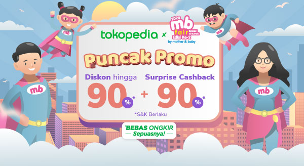 Puncak Promo MB Fair 2020 Diskon hingga 90% + Surprise Cashback 90%*