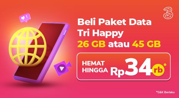 Hematnya Paket Happy Tri :)