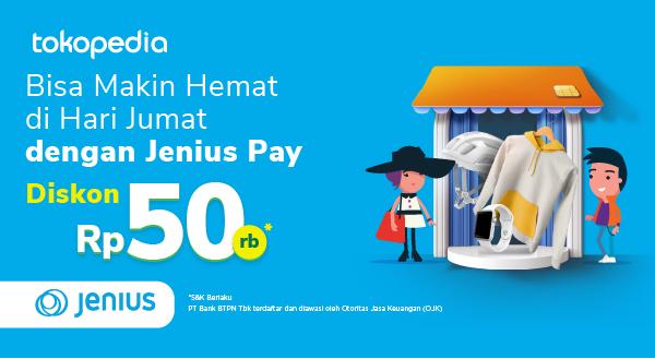 Promo Friyay Jenius di Tokopedia, Diskon Rp 50,000!