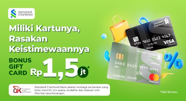 Ada Promo Seru untuk Ajukan Kartu Kredit Standard Chartered