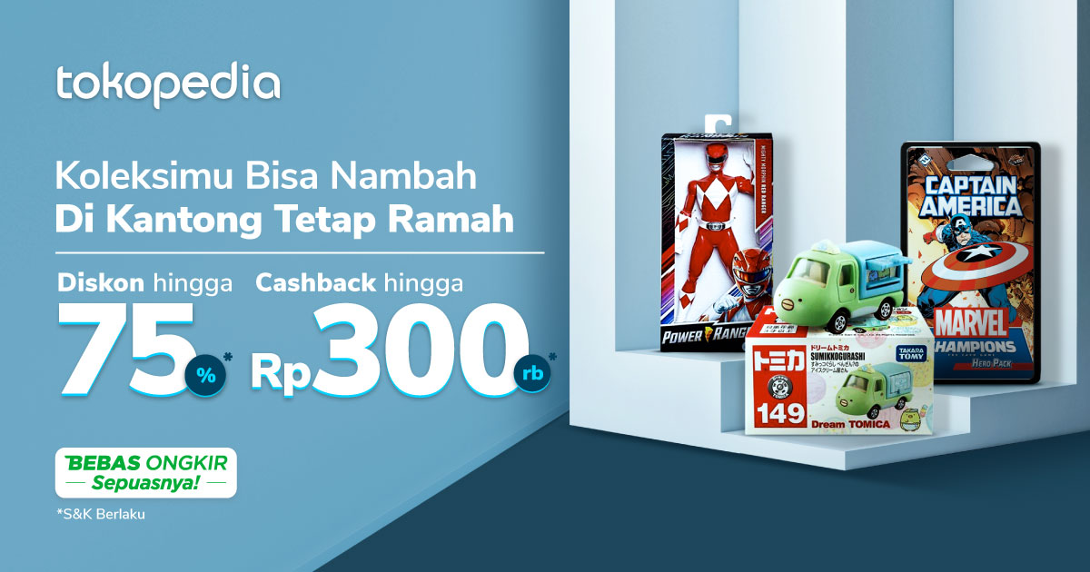 Promo New Year New Collection – Diskon s.d 75% & Cashback | Tokopedia