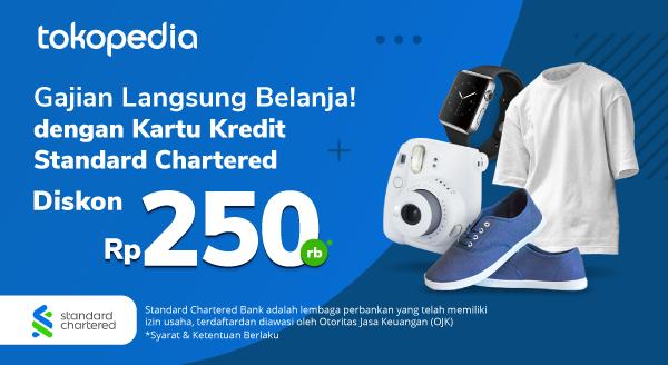 Ada Promo Kartu Kredit Standard Chartered yang Bisa Bikin Kamu Tetap Hemat Saat Gajian dengan Belanja di Tokopedia!