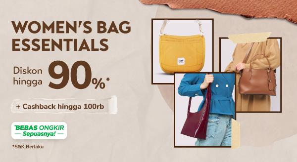 Women Bags Essentials Hadir! Ada Cashback s.d. Rp100 Rb, lho!