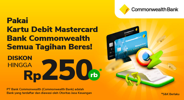 Ada bonusnya pakai kartu debit Commonwealth 😍