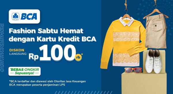 Belanja Fashion Irit dengan Kartu Kredit BCA Diskon Rp 100.000