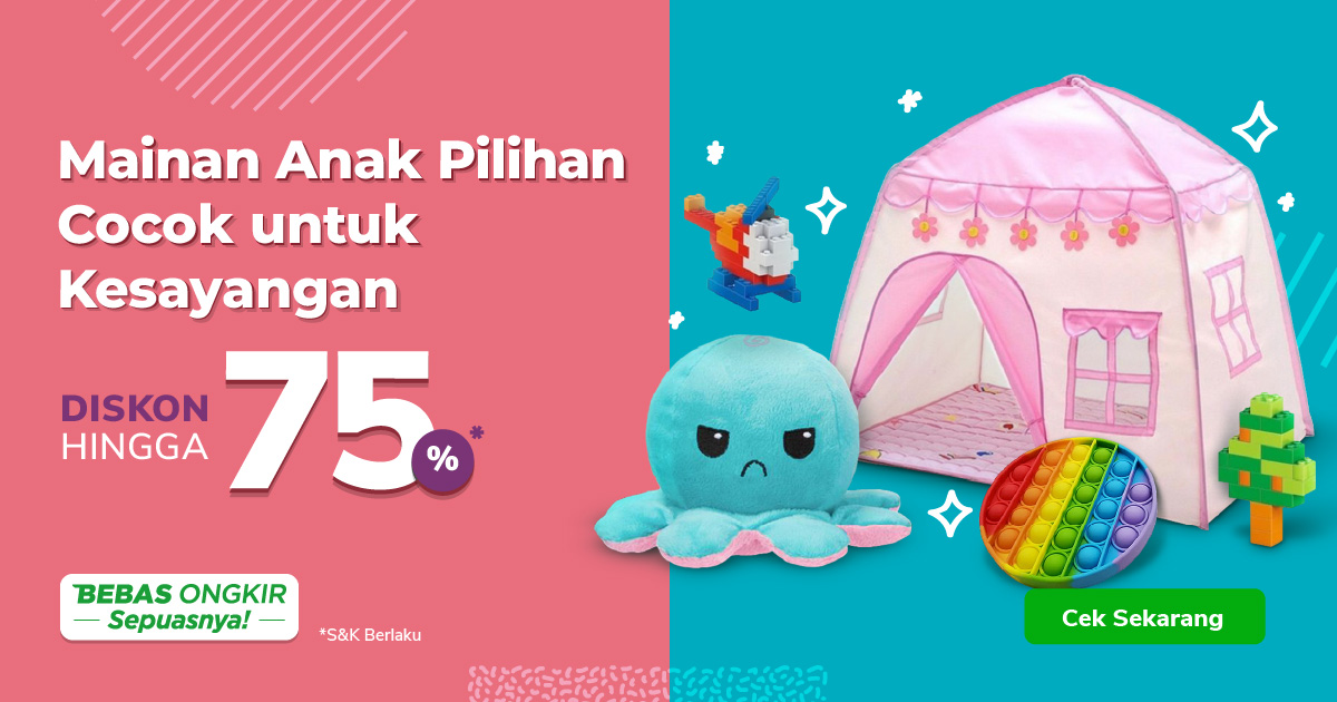 Promo Mainan Anak Perempuan – Diskon hingga 75% | Tokopedia