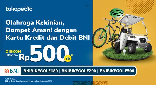 Promo Sepeda dan Golf dengan Kartu Kredit dan Debit BNI Diskon Hingga 500rb!
