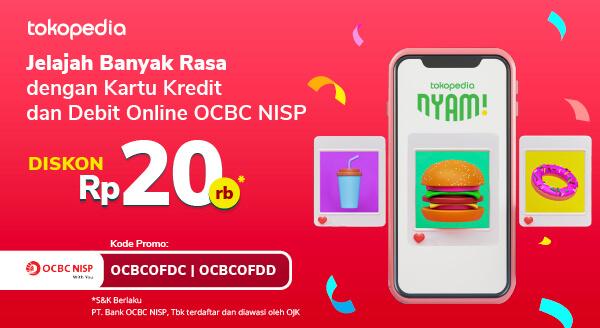 Dapatkan Disc Rp 20rb Untuk Jajan Makanan Kesukaan dengan Kartu Kredit & Debit Online OCBC NISP!