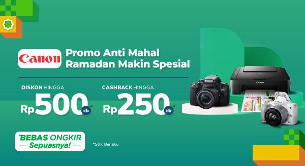 Kamera & Printer dari Canon Diskon s.d 50% + Cashback s.d Rp250 Ribu