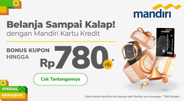 Belanja Tetap Hemat dengan Kupon Diskon hingga Rp 780.000. Pakai Mandiri Kartu Kredit Sekarang!
