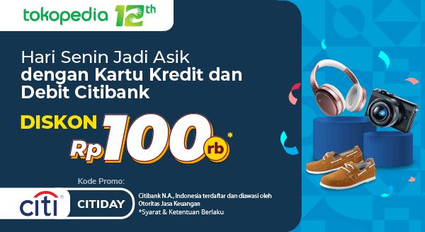 Kini Belanja Setiap Senin Semakin Hemat dengan Kartu Kredit dan Debit Citibank Diskon Rp 100.000!