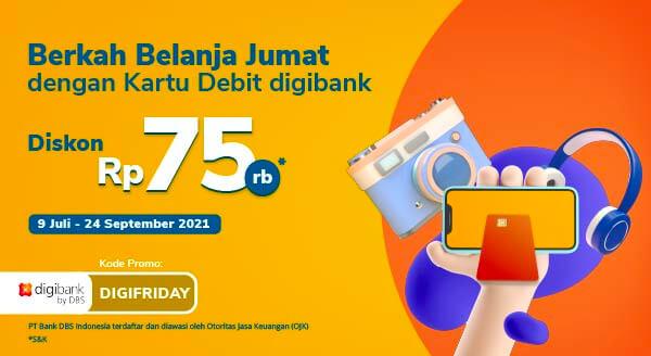 Promo Kartu Debit digibank diskon Rp 75rb setiap Jumat| Tokopedia