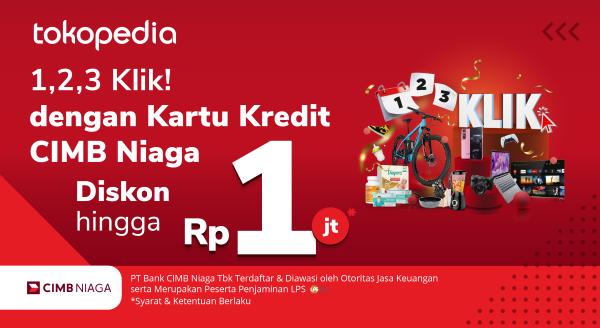 Hadiah Spesial Setiap Awal Bulan April s.d Desember, Diskon hingga Rp 1.000.000,- Pakai Kartu Kredit CIMB Niaga!