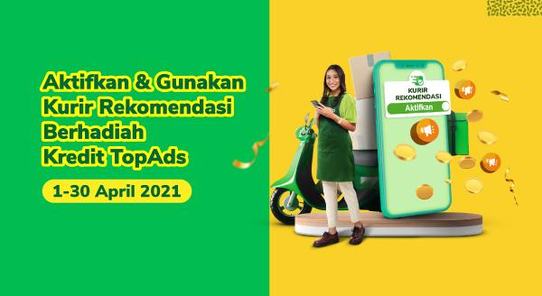 Gratis TopAds Rp100.000 dengan Aktifkan dan Gunakan Kurir Rekomendasi