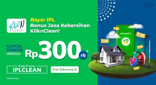 Bayar IPL Bonus Jasa Kebersihan KliknClean!
