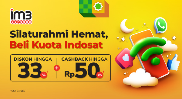 Beli Paket Data Indosat, Bonusnya Double!