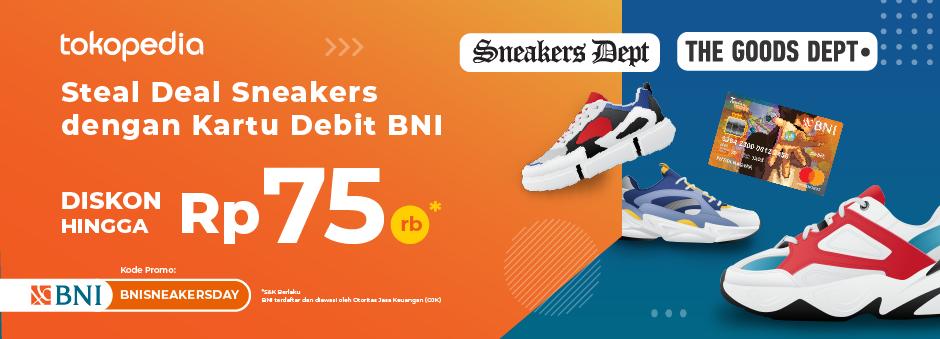 Diskon Hingga Rp 75.000,- di BNI Sneakers Day! Tiap Belanja Produk Sneakers dengan Kartu Debit BNI!
