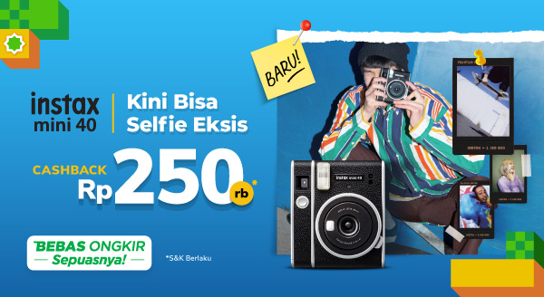 #TimEksis yuk antri berbaris! Pre-Order Fujifilm Instax Mini Cashback 250rb